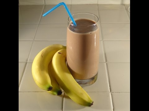 Peanut Butter Chocolate and Banana Smoothie