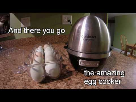 Easy to Peel Hard Boiled Eggs using fresh eggs and the Cuisinart Egg Central