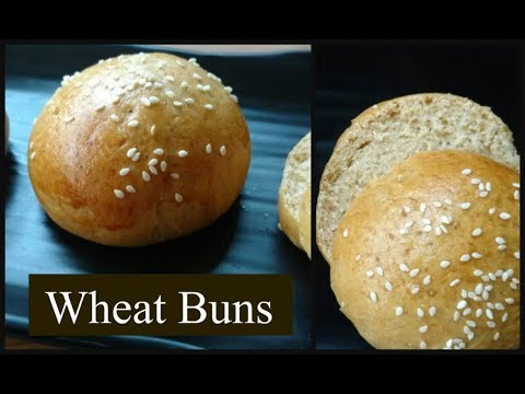 How to make Whole Wheat Flour Burger Buns at Home | Easy Homemade Buns