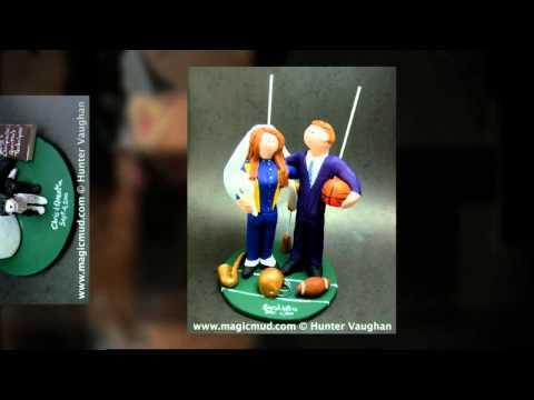 Football Wedding Cake Topper