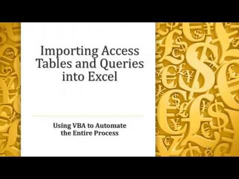 Exporting tables or queries from Access to Excel with VBA