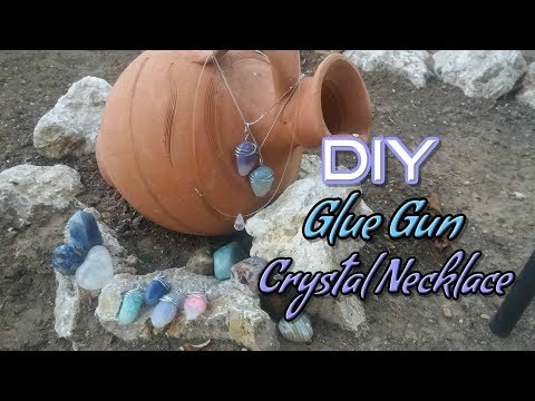 DIY Crystal Necklace! How to make crystals with glue gun