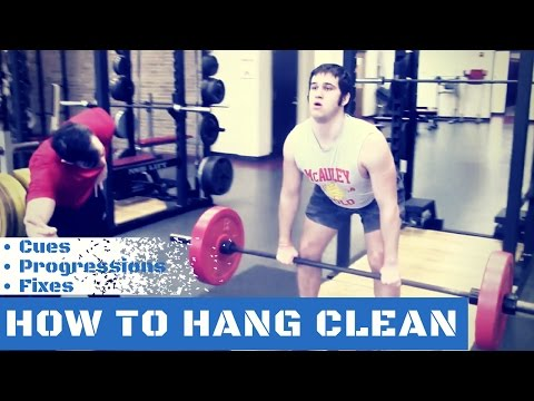How To Hang Clean | Hang Clean Technique | Increase Vertical Jump In The Weight Room