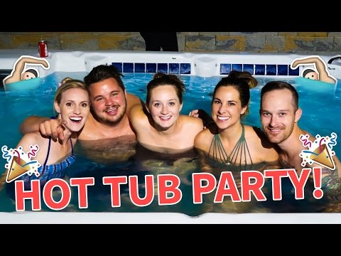 LATE NIGHT HOT TUB PARTY!