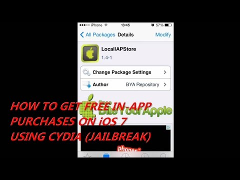 HOW TO GET FREE IN-APP PURCHASES ON iOS 7 USING CYDIA - LocalIAPStore(JAILBREAK)