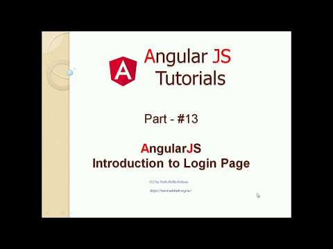 AngularJS Tutorial 13: Creating Login Page Application