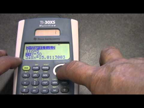 2-variable statistics and linear regression on the TI-30XS Multiview