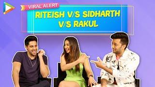 FUNNIEST FIGHT EVER: How well do Sidharth, Riteish & Rakul know Bollywood Masala Films | Marjaavaan