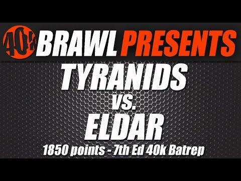 40kBrawl! Video Batrep 1850 Caledonian Uprising 2015 Practice Match :Tyranids Vs Eldar