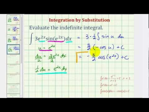Ex: Indefinite Integral Using Substitution with Exponential and Sine