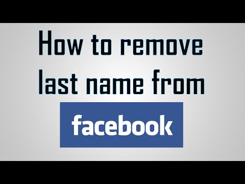 How to remove Last name from FACEBOOK (2016)