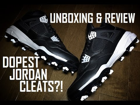 TODAY'S PICK UP | UNBOXING AND REVIEW - JORDAN 4 CLEATS #BASEBALLSZN