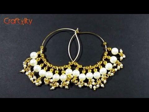 5-Minute DIY Pearl earrings | How to make Easy Pearl Earrings in 5 minutes at Home | Tutorial