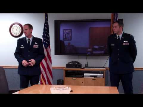 Brian Jacobsen promotion to Major in the USAF