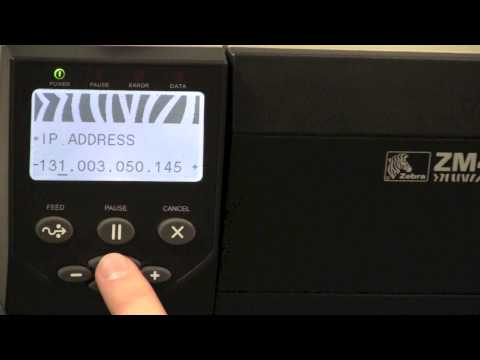Setting a Static IP Address on a ZM400 and ZM600 Printer