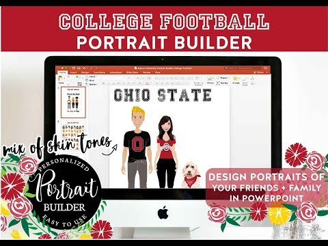 College Football Portrait Builder | OSU | Design Your Own Portraits in Powerpoint