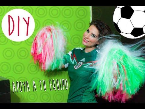 DIY: Como hacer pompones para apoyar a tu equipo // How to make cheerleader pom poms