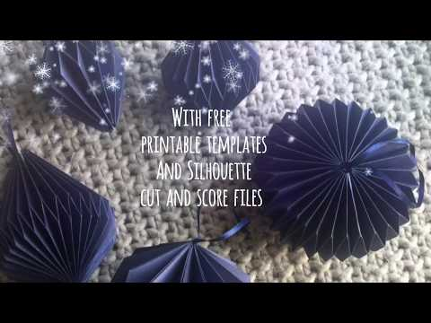 How to make origami Christmas baubles free template. Part 1.