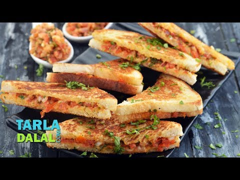 Quick Sandwich Recipe, Veg Tava Sandwich Recipe by Tarla Dalal