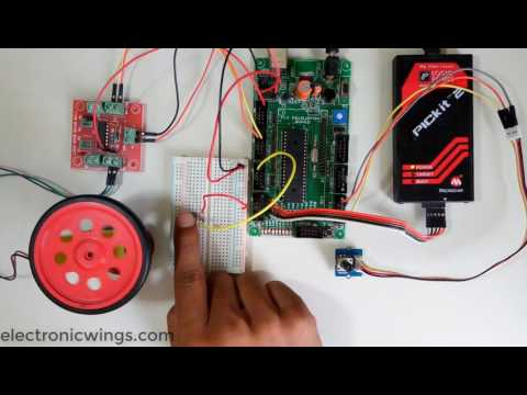 Speed and direction control of DC motor using PIC
