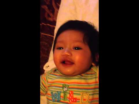 Baby laughing!