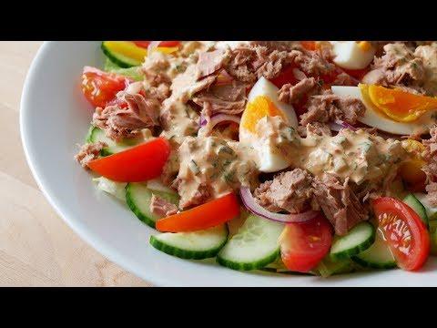 Thunfischsalat mit Thousand Island Dressing || Tuna Salad & Thousand Island Dressing || [ENG SUBS]