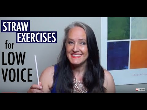 Straw Vocal Exercises for Low Notes - Strengthen Singing Low Tones & Speaking Voice