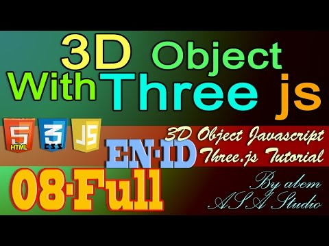 Full, 3D Object With Three Js, 8, Create Camera Control with Mouse, Javascript Tutorial