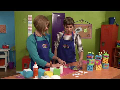 Create monster cubes on Hands On Crafts for Kids with Katie Hacker and Candie Cooper (1608-4)