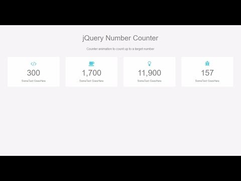 Number Counter Animation with jQuery