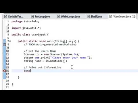Java Tutorial 7: Get User Input