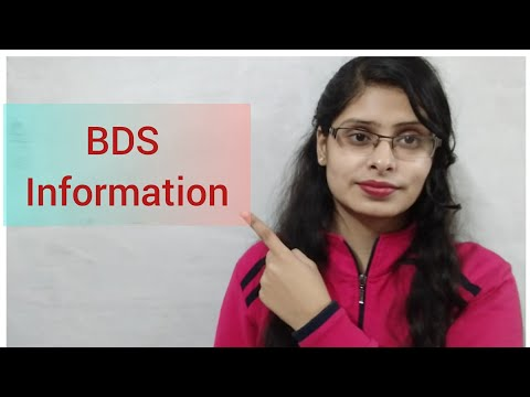 BDS information/ job/ salary/scope/ course duration