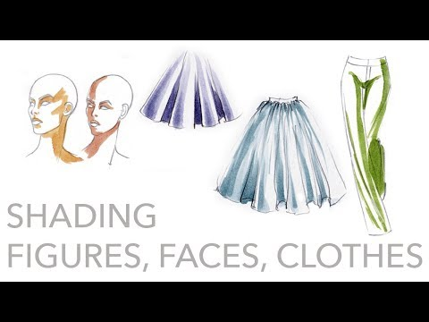 Fashion Illustration Tutorial: Shading Figures, Faces, Clothing