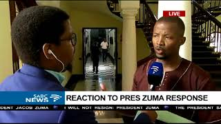MPs react to President Zuma