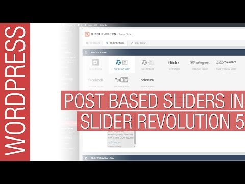 Slider Revolution 5 for Wordpress - Post Based Sliders
