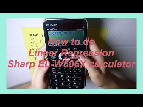 LINEAR REGRESSION | SHARP EL-W506X Calculator