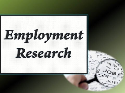 Employment Research Tutorial