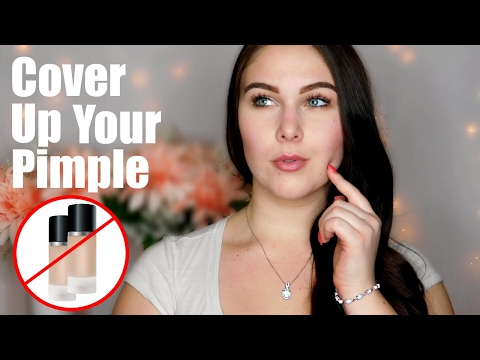 How To Cover Up a Pimple | NO FOUNDATION!
