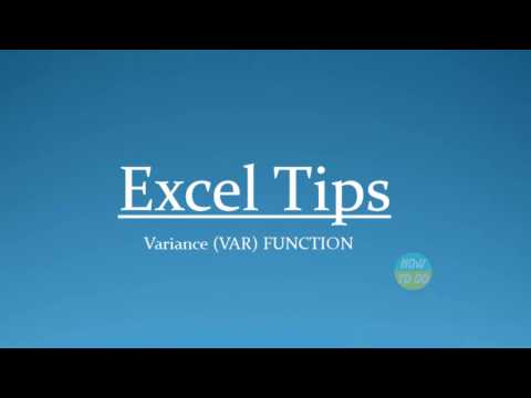 How To Use Variance (VAR) Function in Excel