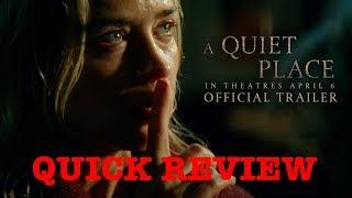 A Quiet Place - Quick Movie Review - Vlog 248