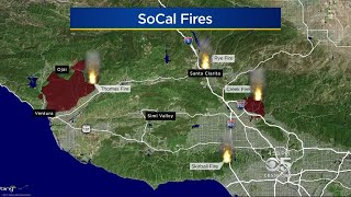 New Fire Erupts In Bel Air As Destructive SoCal Wildfires Rage