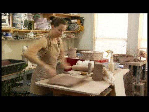 How to Make a Clay Planter : Hand Making a Clay Slab