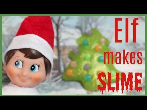 Elf on the Shelf makes SLIME!! Elf on the Shelf Caught Moving 2017