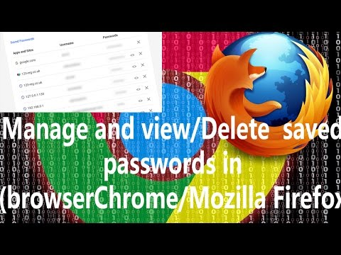 Manage and view/Delete  saved passwords in  browser(Chrome/Mozilla Firefox) in hindi/urdu