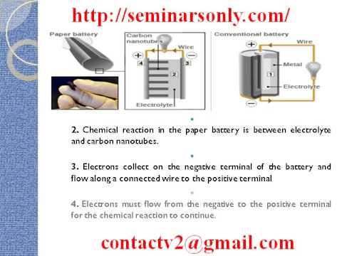 Paper Battery Seminar Topic Pdf