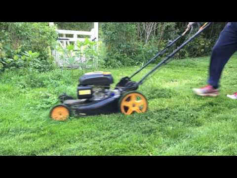 Mowing high grass with Mcculloch M56-190AWFPX