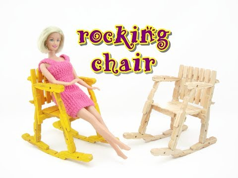 Doll Furniture Tutorial - Wooden Pegs Rocking Chair