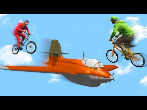 IMPOSSIBLE MILE HIGH PLANES vs. BMX CHALLENGE! (GTA 5 Funny Moments)