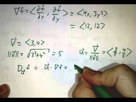 Worked problems on gradients and directional derivatives