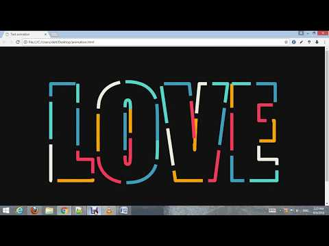 How to create text animation